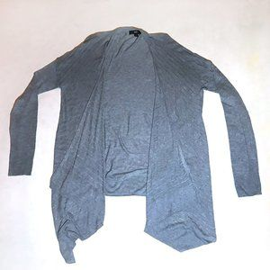 Mossimo Gray Lightweight Hi Low Cardigan Sweater L